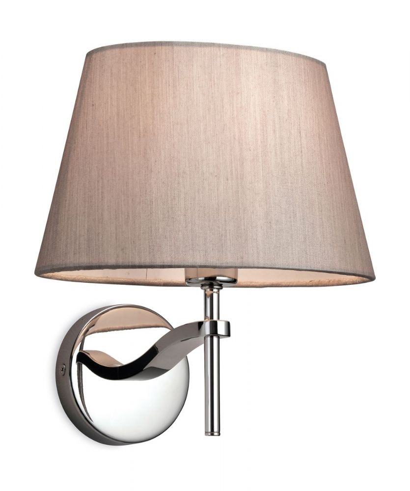 Firstlight 8369OY Polished S/Steel with Oyster Shade Princess Single Wall